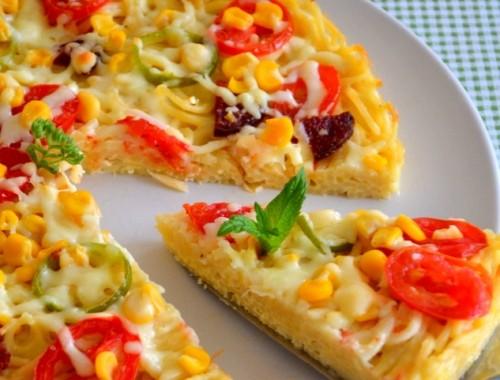 طريقة عمل بيتزا المعكرونة