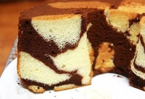 الكيكة الا سفنجية الرخامية
