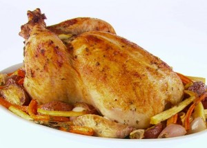 الدجاج المحمر