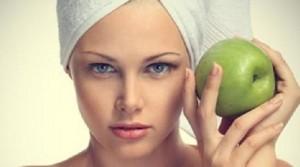 غسل البشرة بخل التفاح