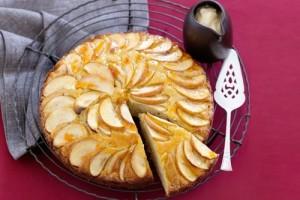 كيكة التفاح بدون بيض