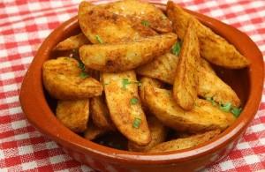 بطاطس حارة بالكزبرة منال العالم